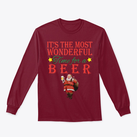 It's The Most Wonderful Time For A Beer Cardinal Red T-Shirt Front