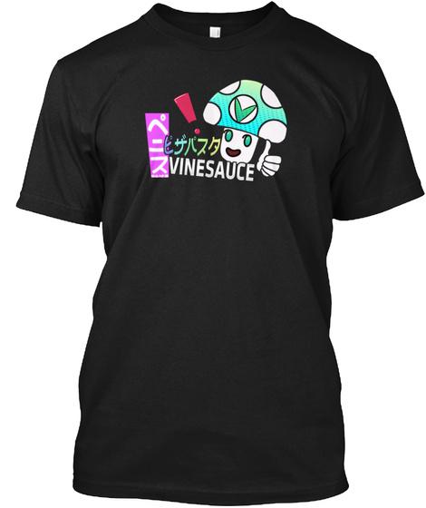 Vinesauce Japanese Style Black T-Shirt Front