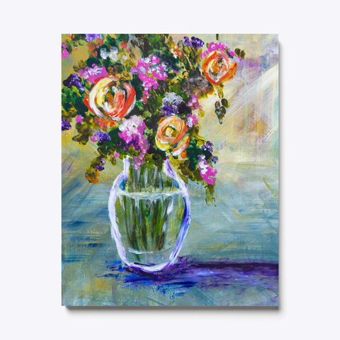 Floral Painting Bouquet Flowers In Vase Standard T-Shirt Front