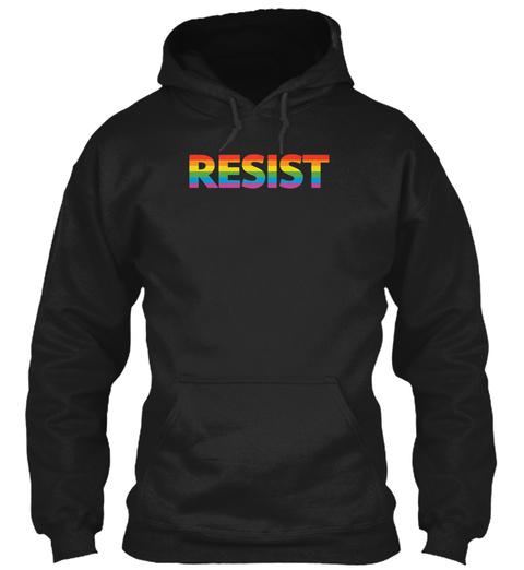 Lgbtq Resist Black T-Shirt Front