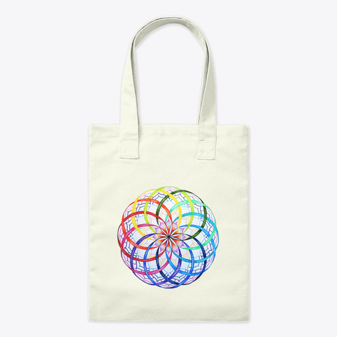Rainbow Flower Of Li Fe Natural T-Shirt Front