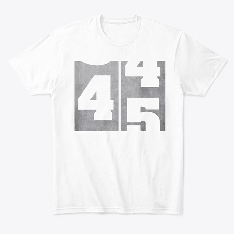 45th Birthday Age Counter White T Shirt Front