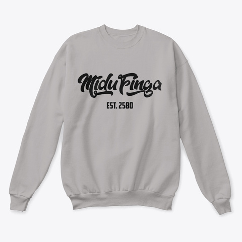 Midufinga Limited Edition Logo Light Steel  T-Shirt Front