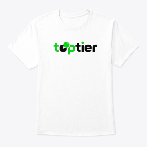 Top Tier Official White T-Shirt Front