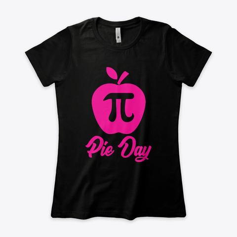 Pi Day Design Black Women's T-Shirt Front