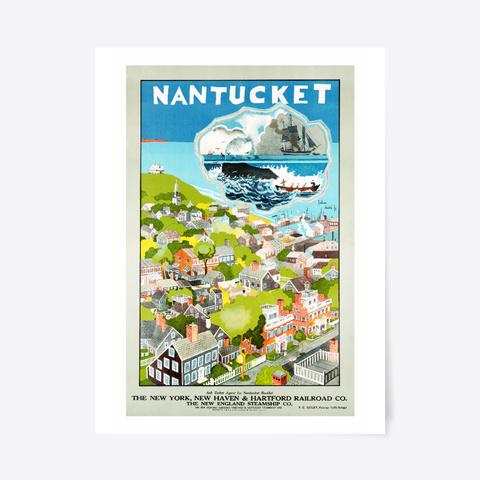 Nantucket Massachusetts White T-Shirt Front