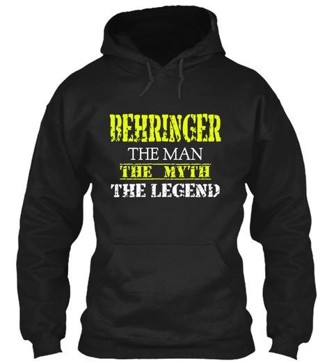Be Hr Ing Er The Man The Myth The Legend Black T-Shirt Front