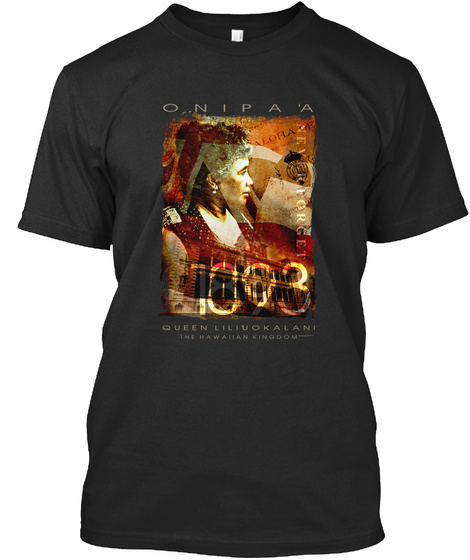 Queen Lili'uokalani Black T-Shirt Front