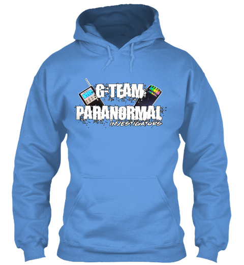 G Team Paranormal Investigators Carolina Blue T-Shirt Front