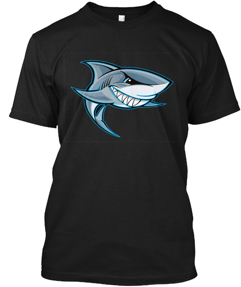 Shark Tee Black T-Shirt Front
