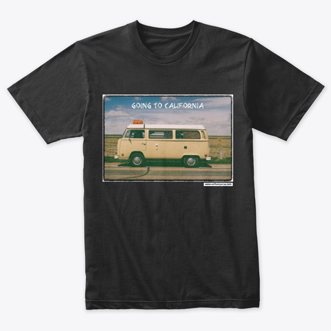 """Triblend Tee: """"Going To California"""" Vintage Black T-Shirt Front"""