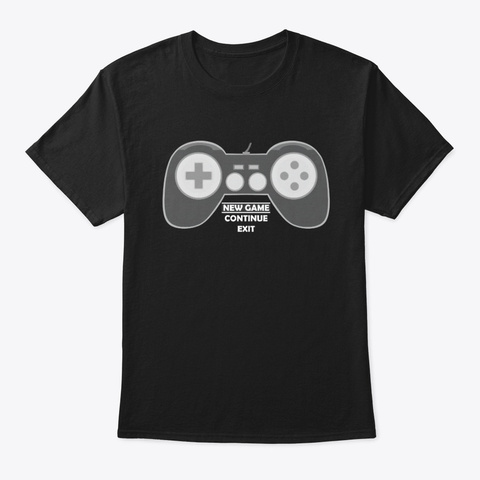 Game Controller! Black T-Shirt Front