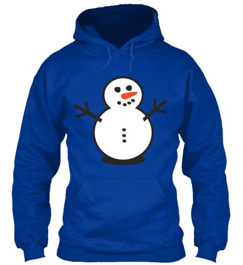Snowman Royal Blue T-Shirt Front
