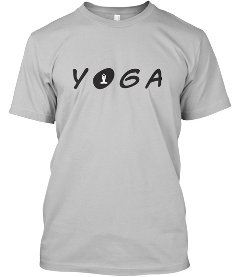 Yoga Meditate Sport Grey T-Shirt Front