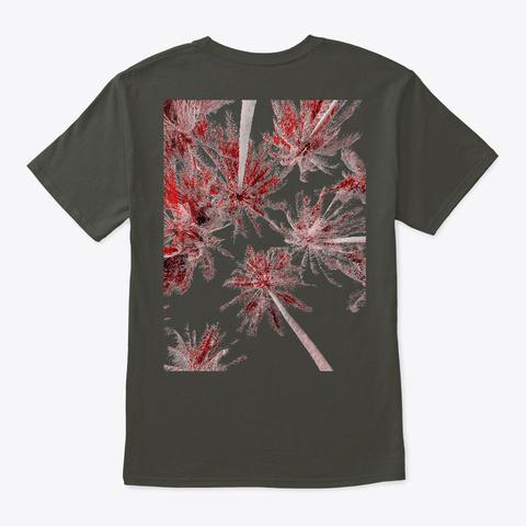 Palm Trees Smoke Gray T-Shirt Back