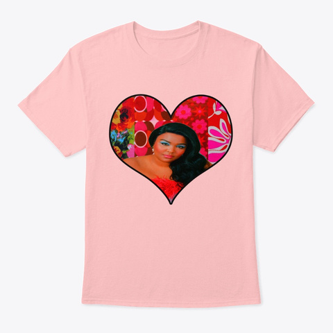 100% That Bitch Lizzo Retro Heart  Pale Pink T-Shirt Front
