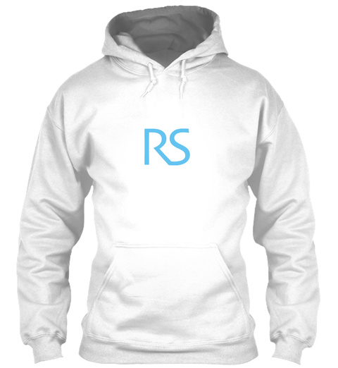 Rs White Sweatshirt Front