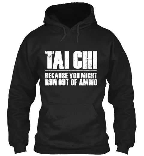 [Limited Edition] Tai Chi Hoodie Black T-Shirt Front