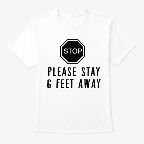 Social Distance Expert Quarantine Humor White T-Shirt Front