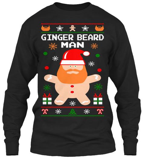 Ginger Beard Man Black T-Shirt Front