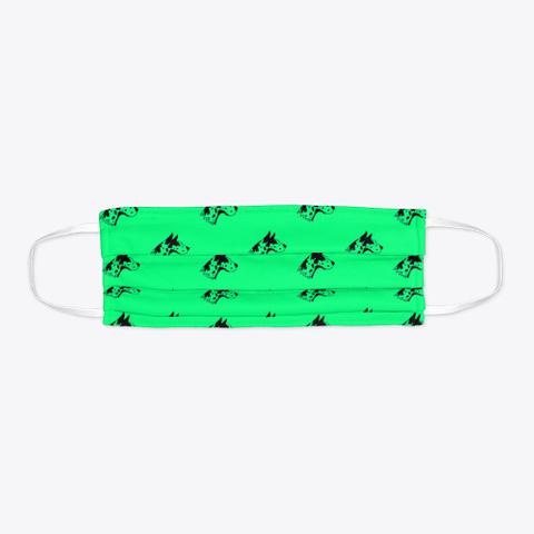 Green Great Dane Pattern Face Mask Standard T-Shirt Flat