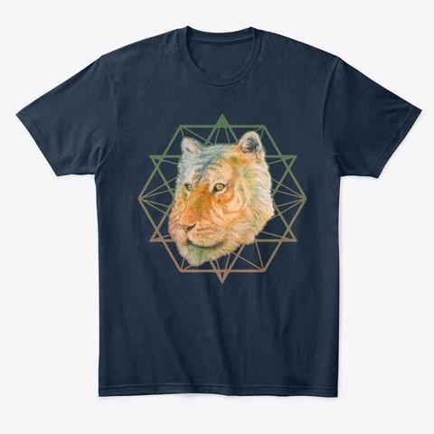 Tiger Zen New Navy T-Shirt Front
