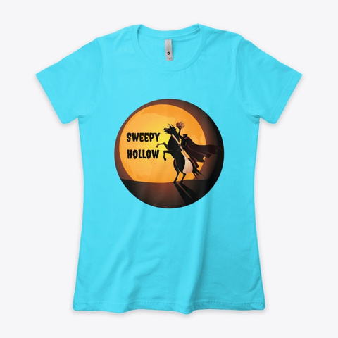 Sweepy Hollow   Ichabod Clean Tahiti Blue  T-Shirt Front