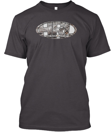 Hrl High Rock Lake Nc Heathered Charcoal  T-Shirt Front