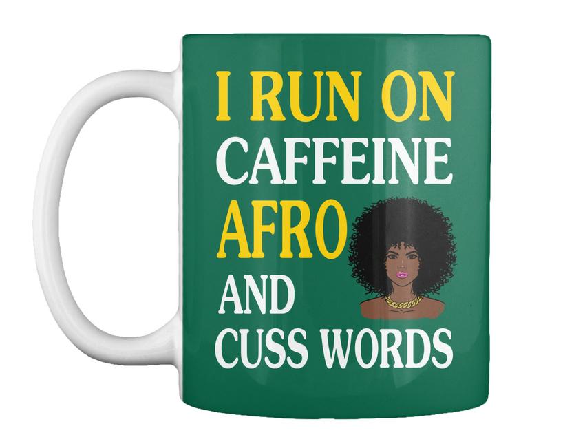 miniature 17 - Run On Caffein And Afro - I Caffeine Cuss Words Gift Coffee Mug