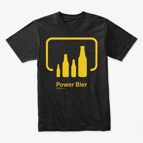 Power B Ier (Yellow Logo) Black T-Shirt Front