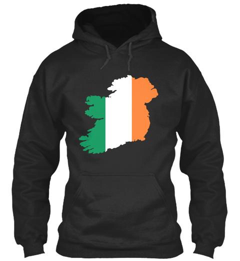 Ireland Flag Jet Black T-Shirt Front