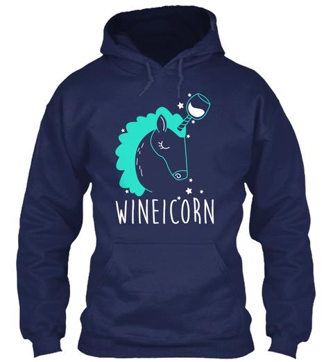 Wineicorn Navy T-Shirt Front