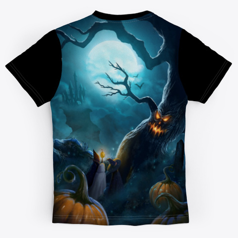 Hot Witch Shirt For Halloween Day Black T-Shirt Back