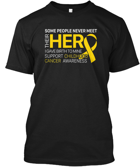 Support My Hero Tshirt Black T-Shirt Front