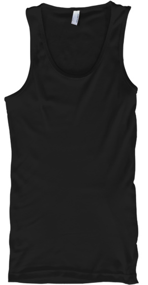 Akron Sb Square Red Back Design Black Tank Top Front