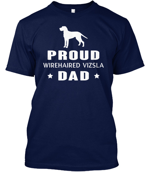 Wirehaired Vizsla Navy T-Shirt Front