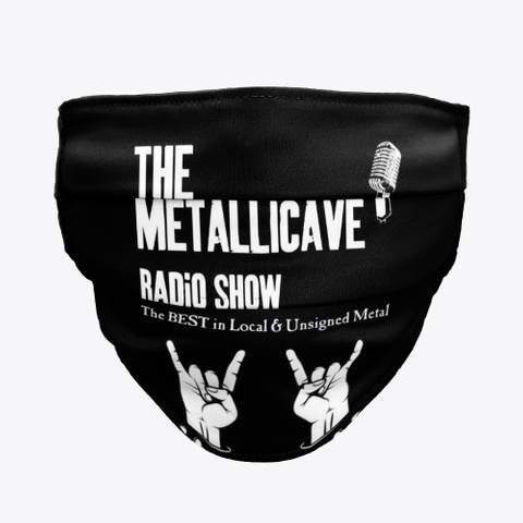 The Metallicave Radio Show Mask Black T-Shirt Front