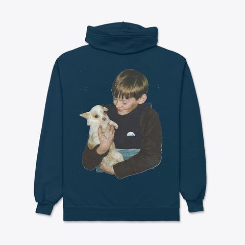 Moon Boy W Dog Navy T-Shirt Back