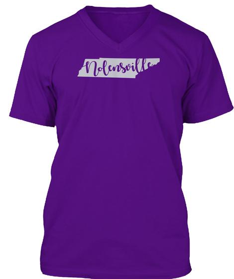 Nolensville, Tn Script Tee Team Purple T-Shirt Front