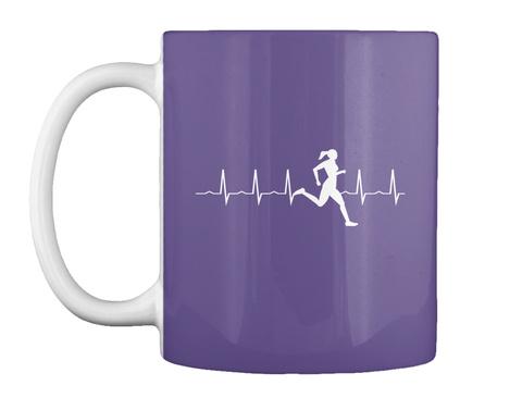 Woman Runner Heartbeat Mugs Purple T-Shirt Front