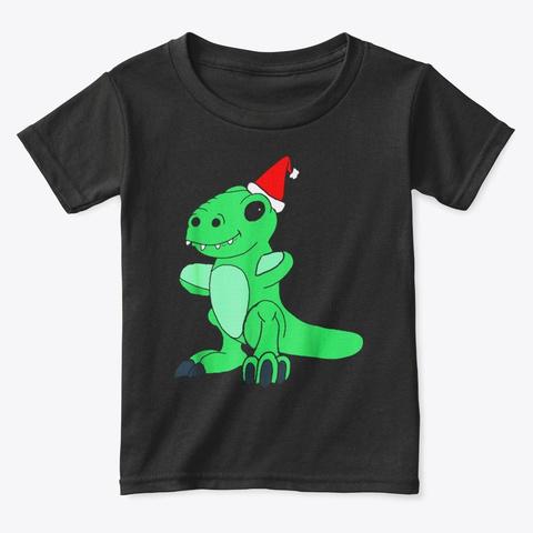 Happy Holiday Dino T Shirt America Black T-Shirt Front
