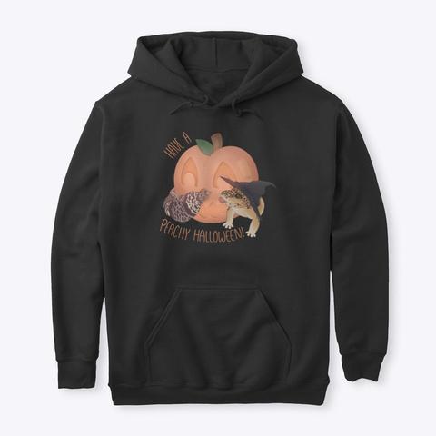 A Peachy Halloween! Black T-Shirt Front