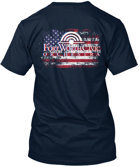 Fort Worth Civic Orchestra New Navy T-Shirt Back