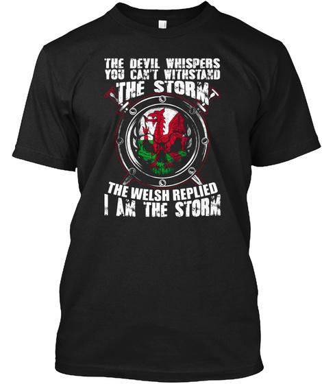 Welsh Black T-Shirt Front