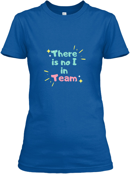 Team Work Royal T-Shirt Front