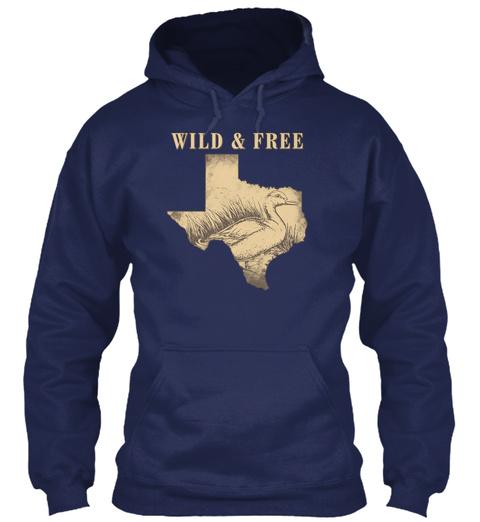 Wild & Free Navy T-Shirt Front