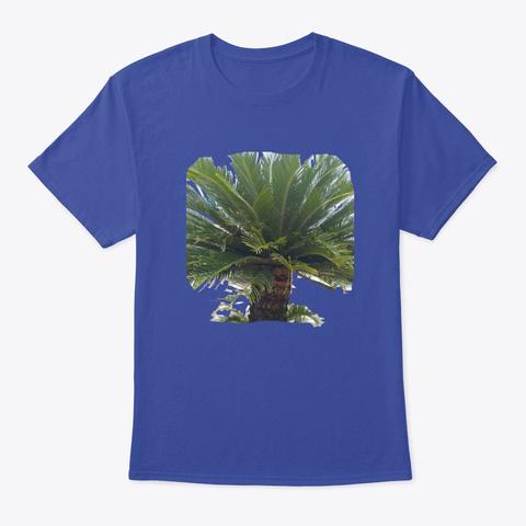 Palm Tree Deep Royal T-Shirt Front