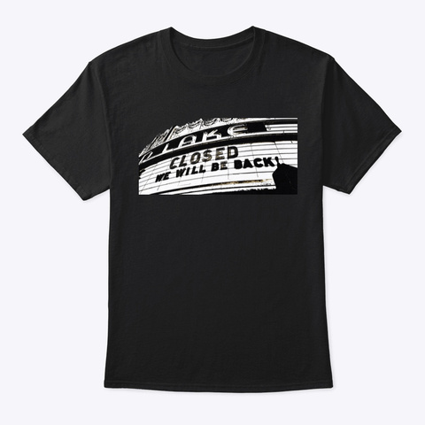 Oakland Love: We Will Be Back Black T-Shirt Front