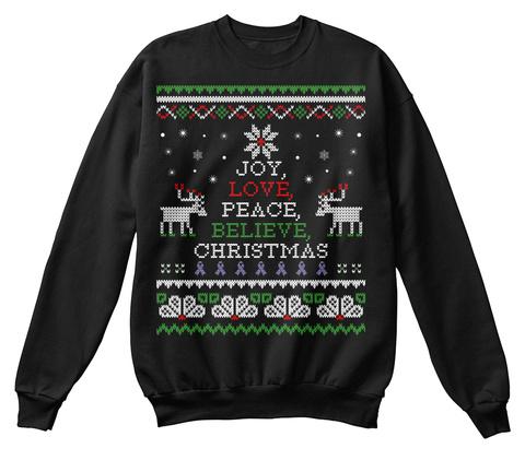 Christmas Sweatshirt | Hodgkins Lymphoma Black T-Shirt Front