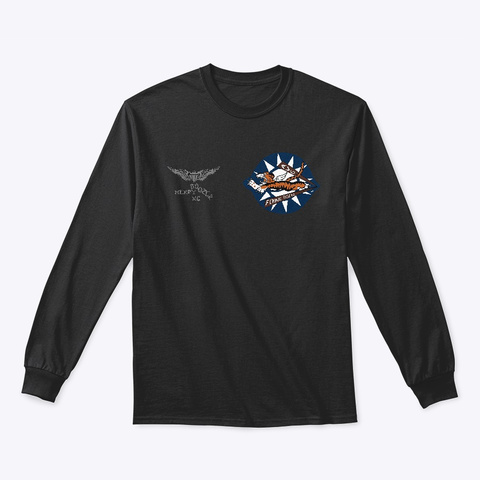 Avg Flying Tiger With Blood Chit Black T-Shirt Front